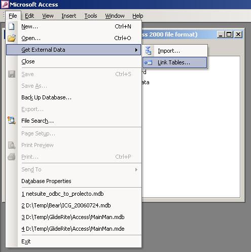 Access: Link Data