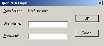 Login with NetSuite Credentials