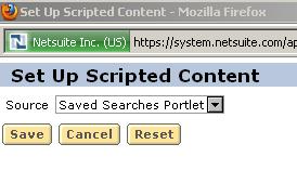 Setup Scripted Portlet