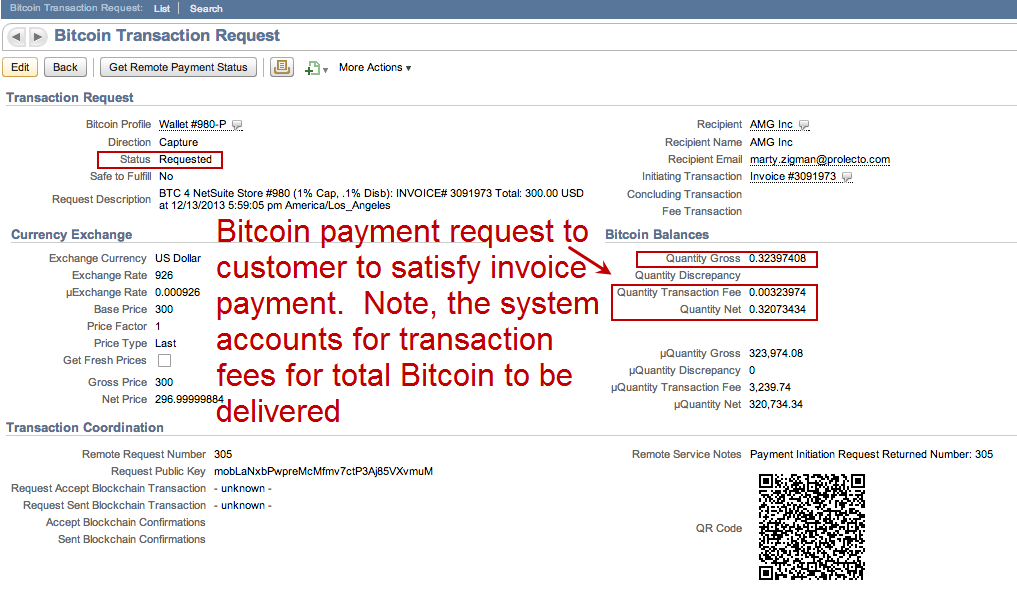how to send bitcoin invoice